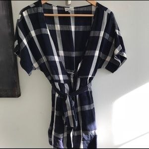 The Odell's plaid tunic wrap from Anthropologie